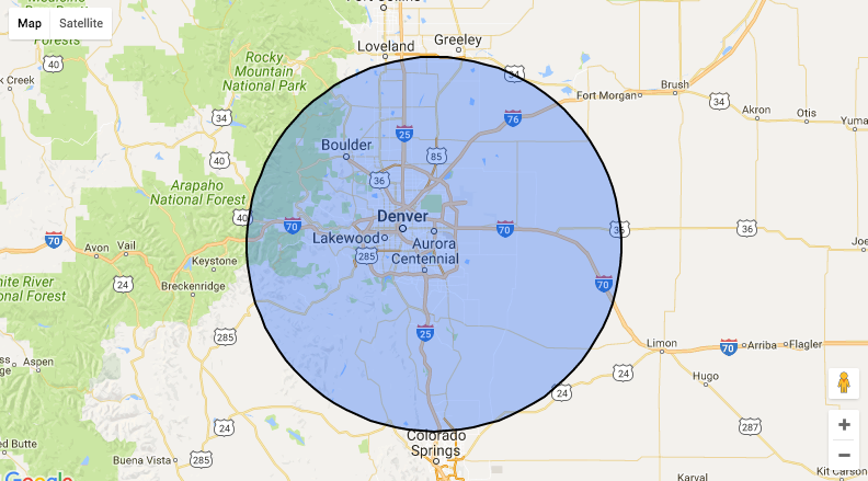 Our Service Area within 30 miles of Thornton Colorado (CO)