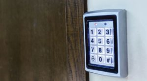 Business Front Door Electronic Keypad